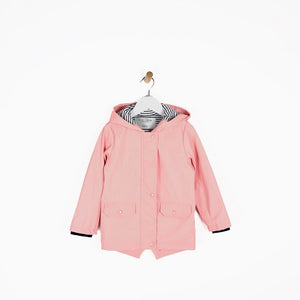 Girls dusty pink hooded rain mac coat waterproof for kids