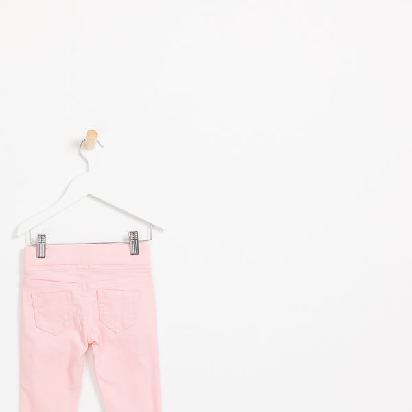 Kids girls pink comfy jegging jeans.