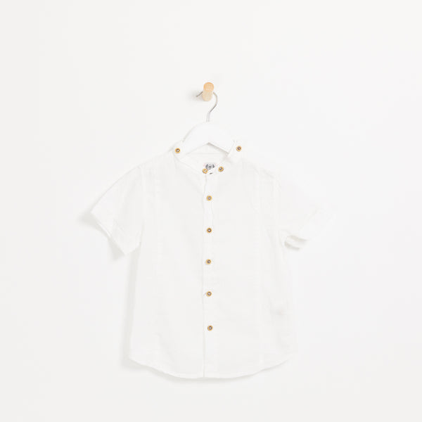 Collarless - White