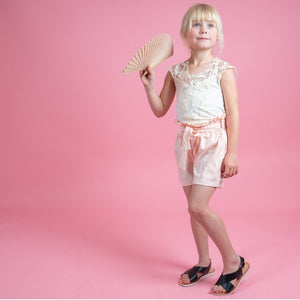 Girls kids cream lace bodysuit