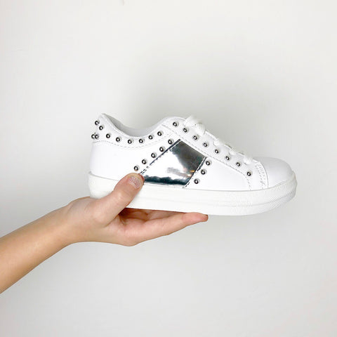 Studded Trainers - White