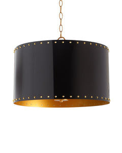 3 Light Pendant - Black and Gold - NEW - Couture Lamps