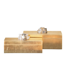 Astoria Quartz Rectangular Boxes [Set of 2] - Couture Lamps