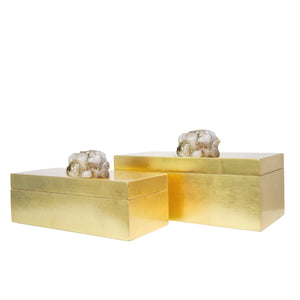 Astoria Quartz Boxes [Set of 2] - Couture Lamps