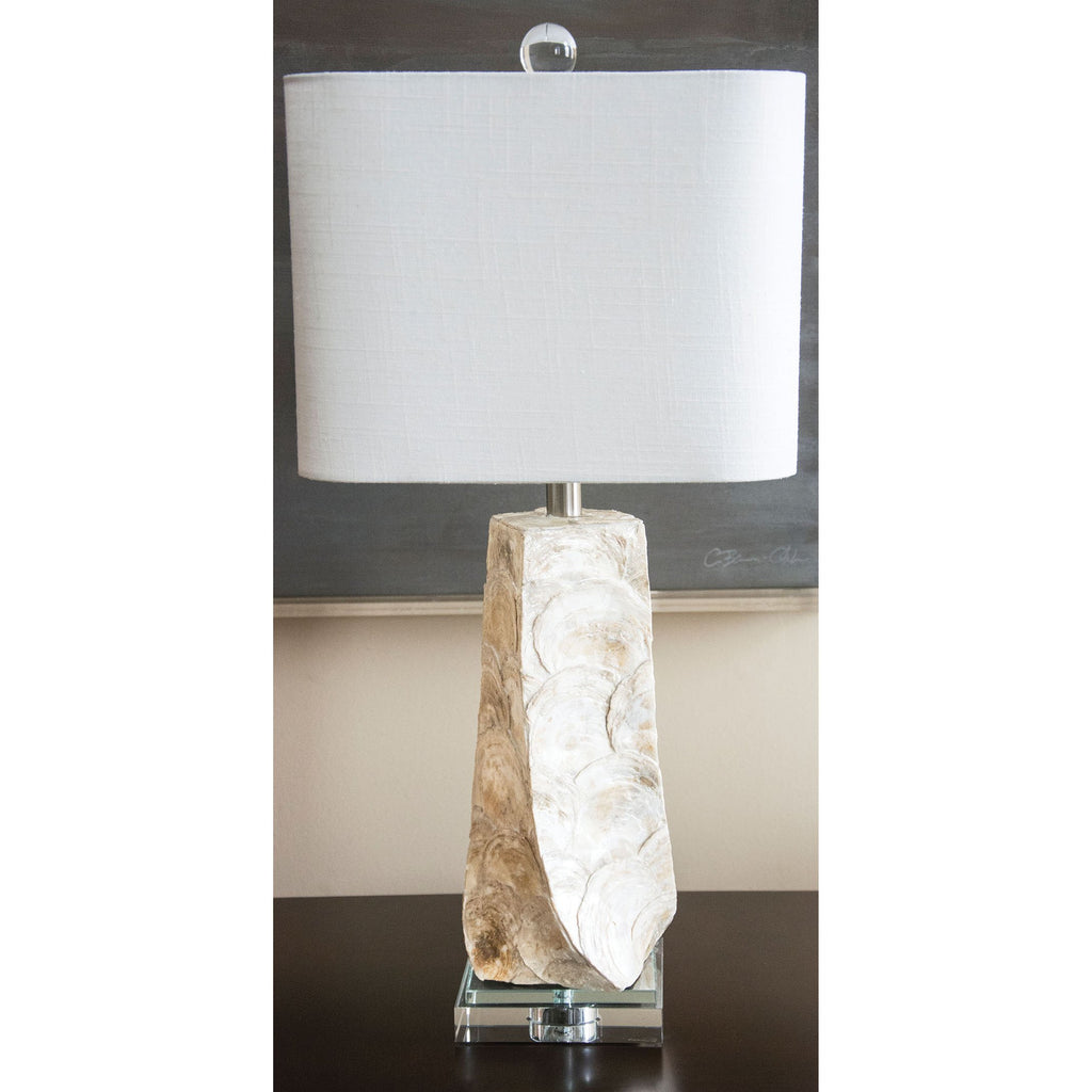 "Del Mar 27"" Table Lamp with Oval Shade - Couture Lamps"