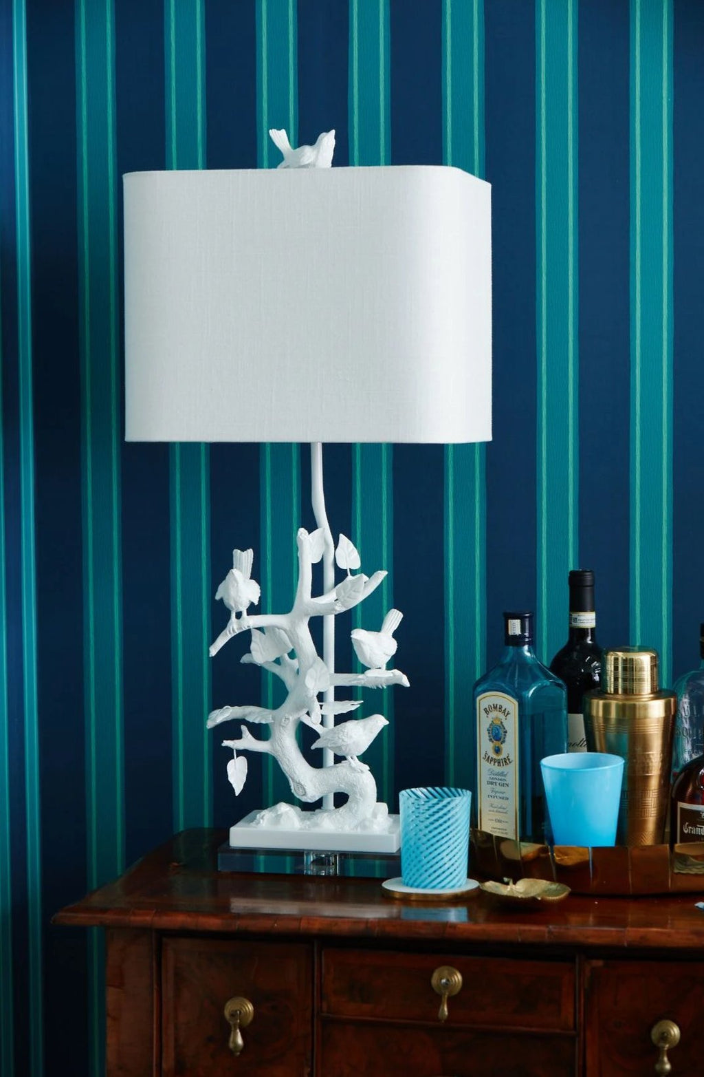 Bird on Branch Table Lamp - Couture Lamps