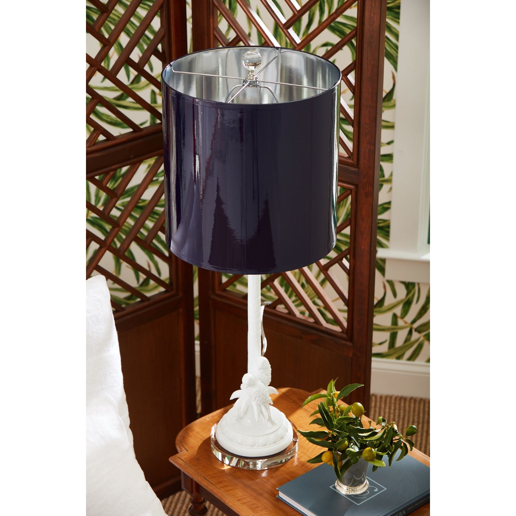 "Parrot Palm 14"" Table Lamp - Couture Lamps"