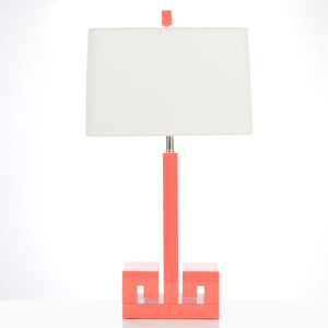 Astor Table Lamp, Coral - Couture Lamps