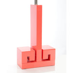 "30""H Astor Table Lamp - Coral - Couture Lamps"