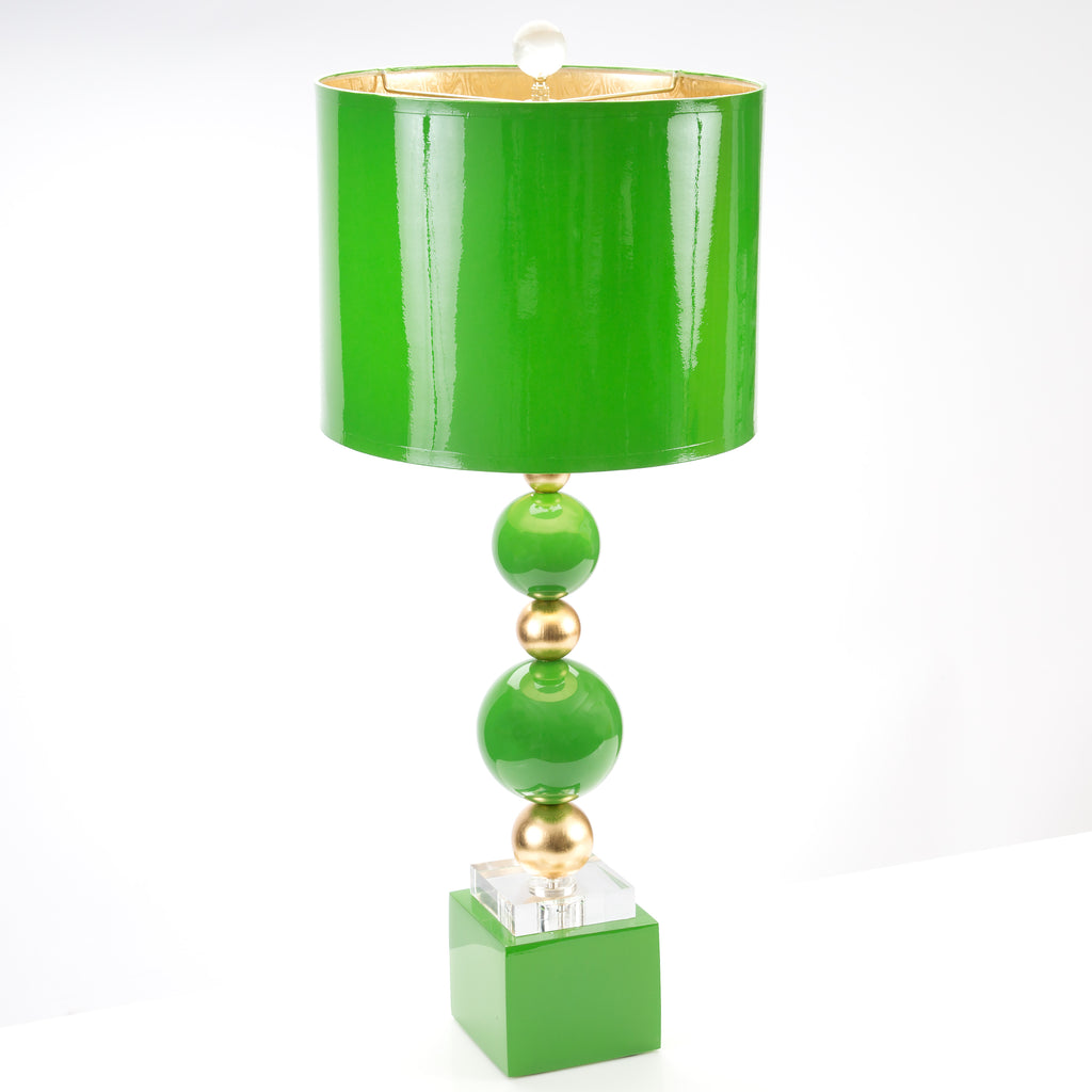 "29""H SheridanTable Lamp - Kelly Green - Couture Lamps"