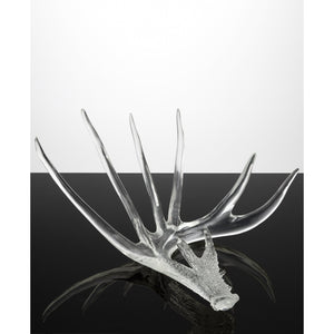 Clear Antlers Sculpture Set - Couture Lamps