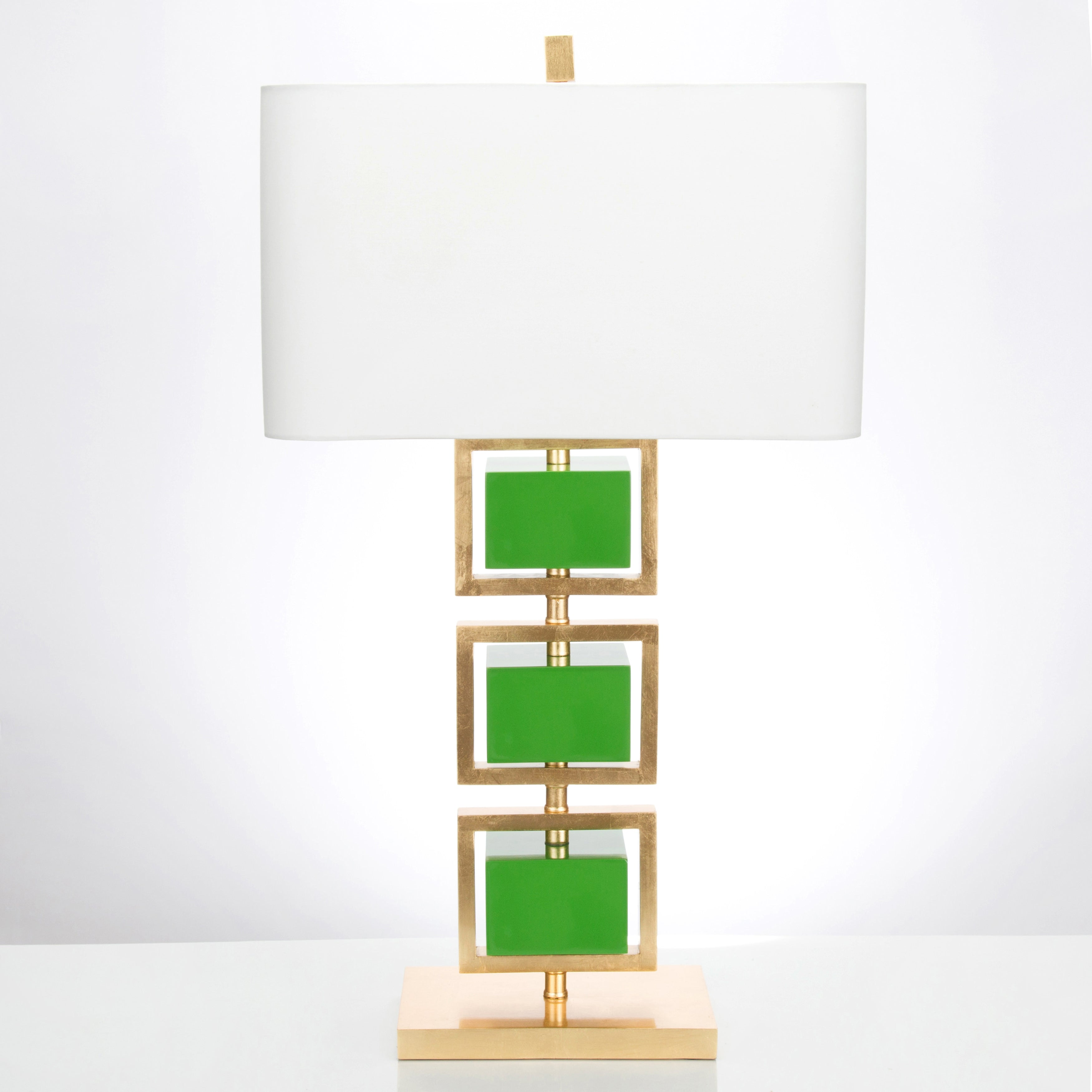 "34.5""H Coventry Table Lamp - Kelly Green - Couture Lamps"