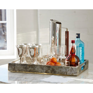 Emerson Accent Tray with Handle - Couture Lamps