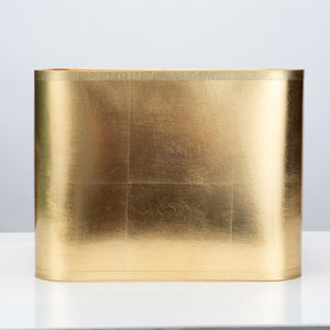 "Square Gold Foil Shade 13/13 x 13/13 x 10"" - Couture Lamps"