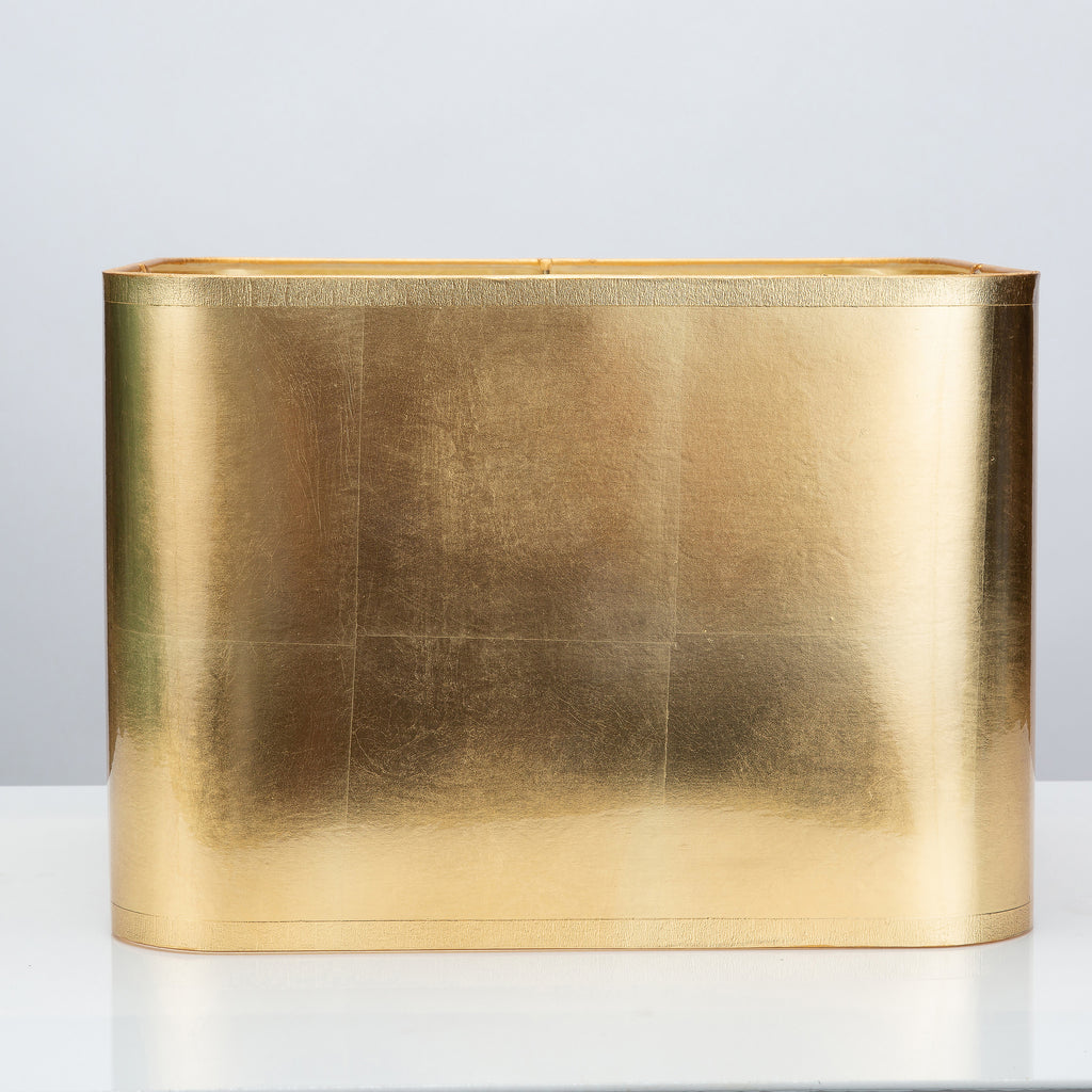 "Square Gold Foil Lamp Shade 14/14 x 14/14 x 10"" - Couture Lamps"