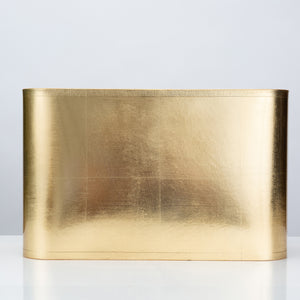 "Rectangular Gold Foil Shade 16/9 x 16/9 x 10"" - Couture Lamps"