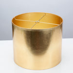 "Round Gold Foil Shade 12"" x 12"" x 10"" - Couture Lamps"