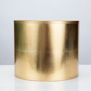 "Round Gold Foil Lamp Shade 12"" x 12"" x 10"" - Couture Lamps"