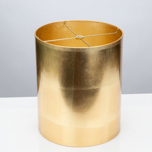 "Round Gold Foil Lamp Shade 11 x 11 x 13"" - Couture Lamps"