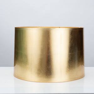 "Round Tapered Gold Foil Lamp Shade 15 x 16 x 10"" - Couture Lamps"