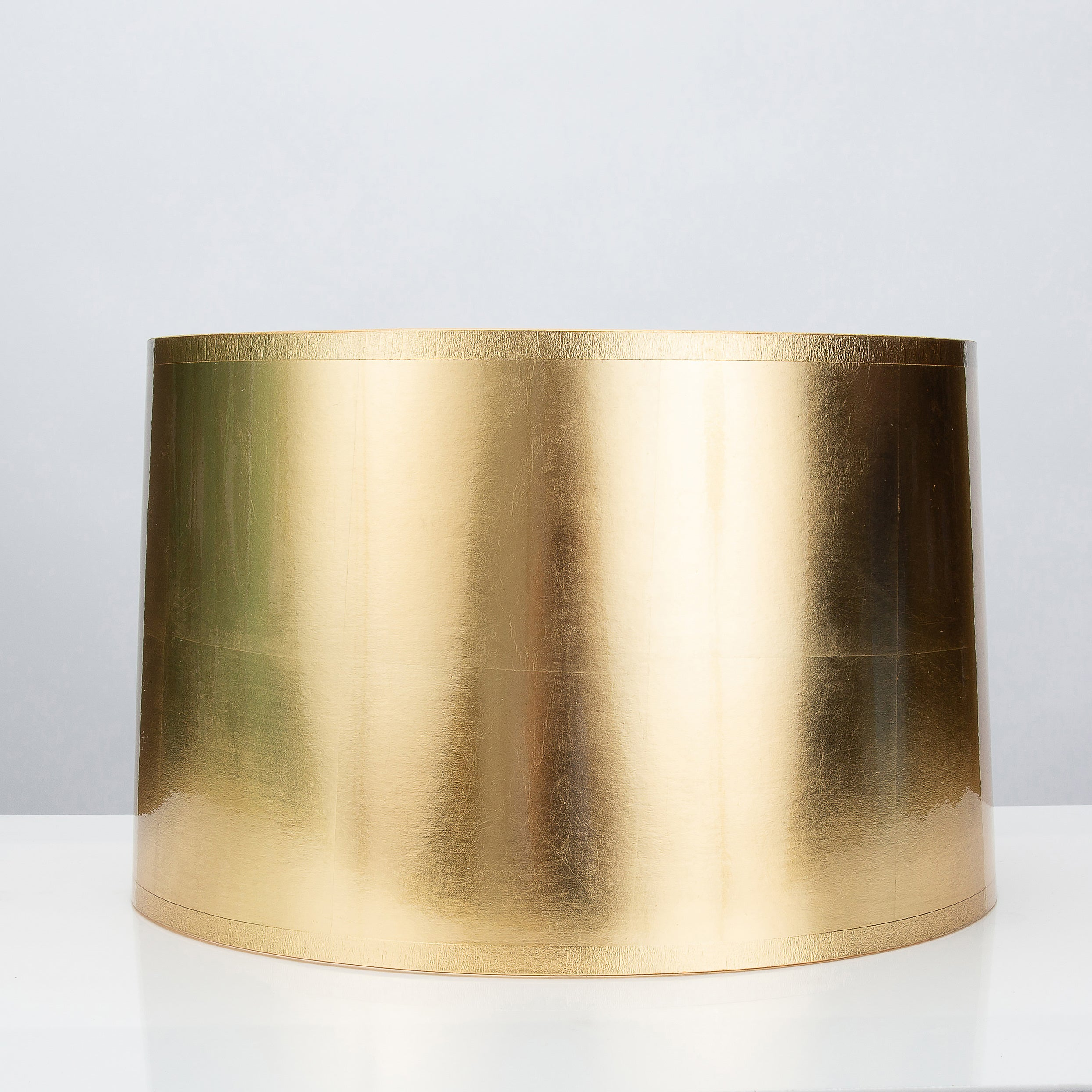 "Round Tapered Gold Foil Lamp Shade 16 x 17 x 11"" - Couture Lamps"