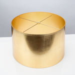 "Round Tapered Gold Foil Shade 16 x 17 x 11"" - Couture Lamps"
