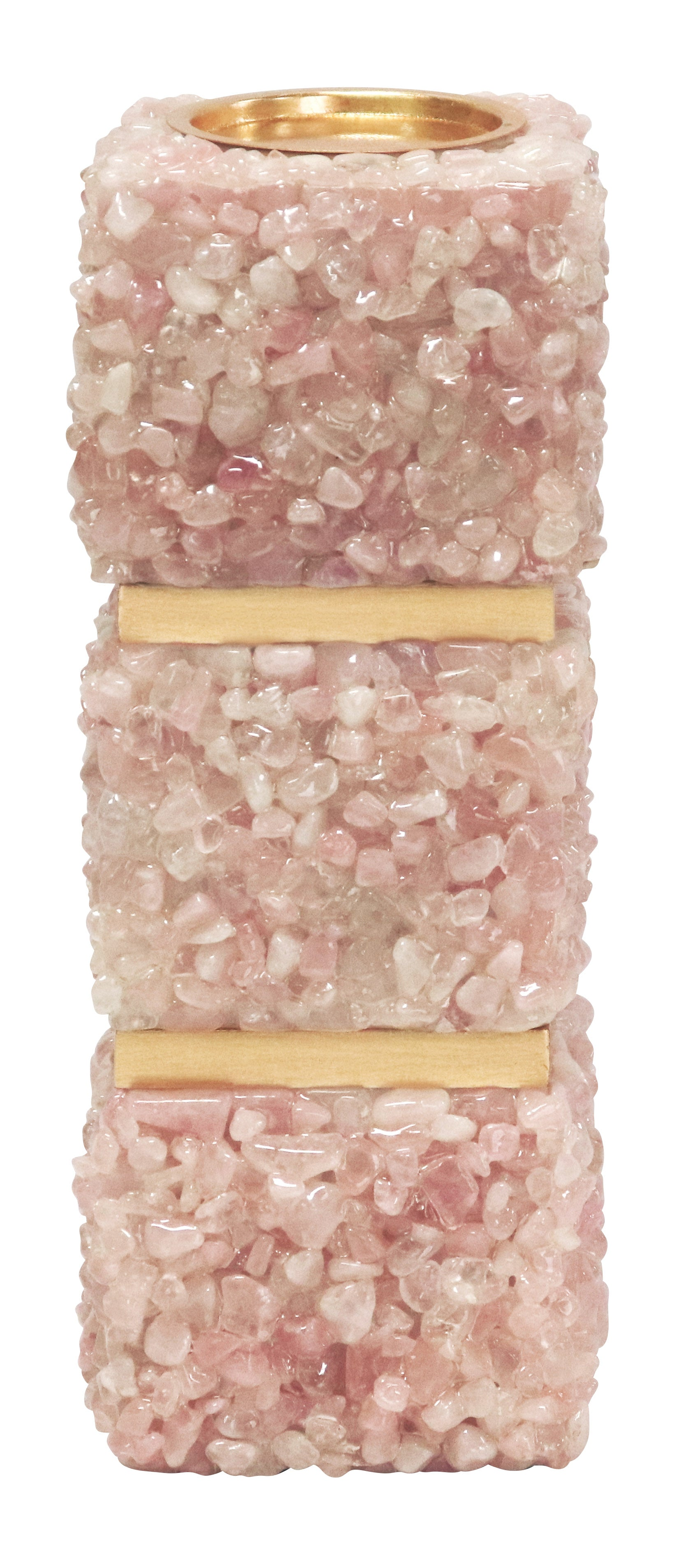 Barrington Pink Quartz Pillar Candle Holder - Couture Lamps