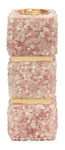 "Barrington Pink Quartz Candleholder - 15""H - Couture Lamps"