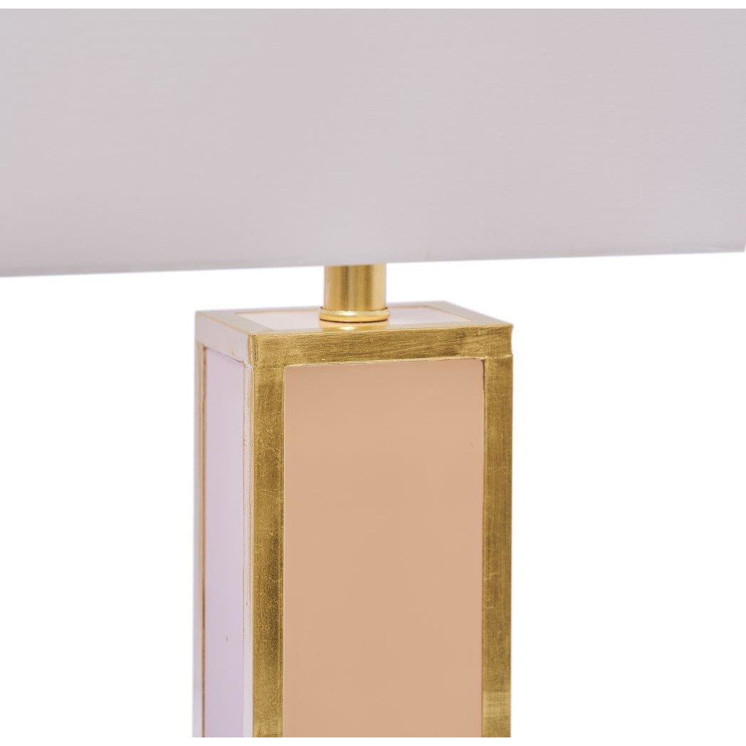 Blair Table Lamp, Blush/Gold - Couture Lamps