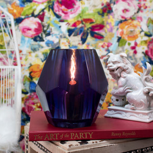 Gem Uplight - Navy - Couture Lamps