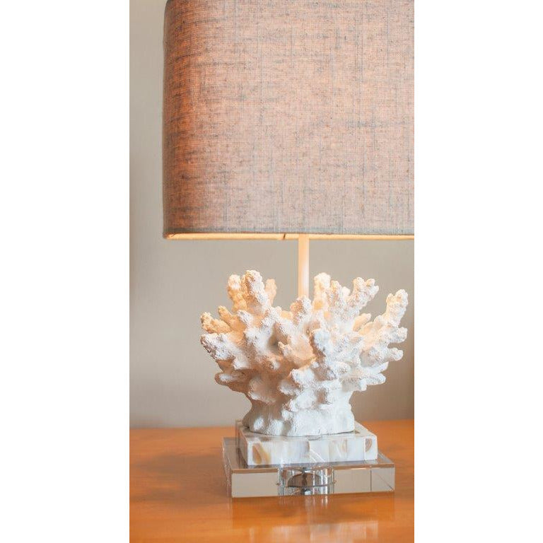 "Wayfarer Coral 17"" Table Lamp - Couture Lamps"