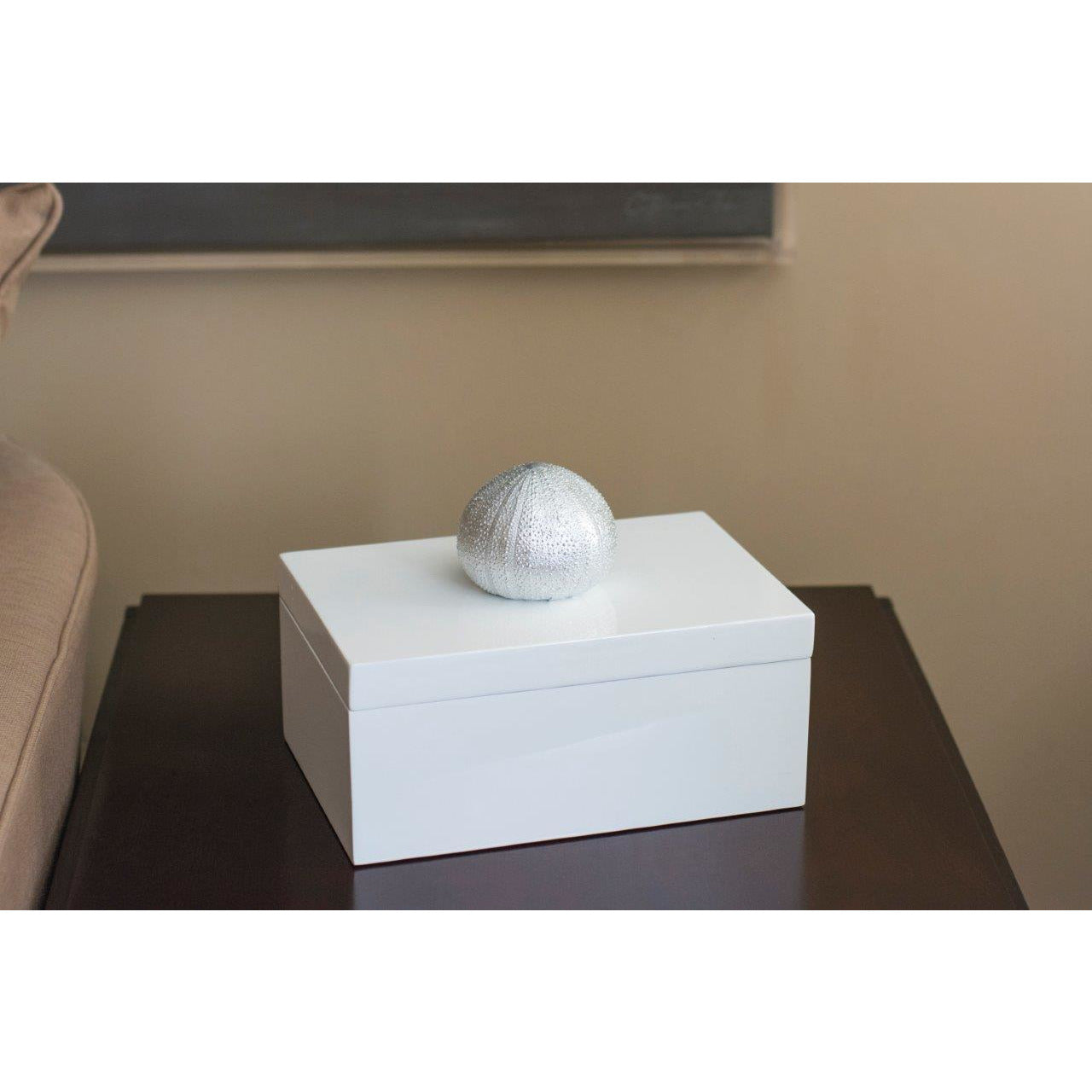 Silver Sea Urchin Rectangular Box - Couture Lamps