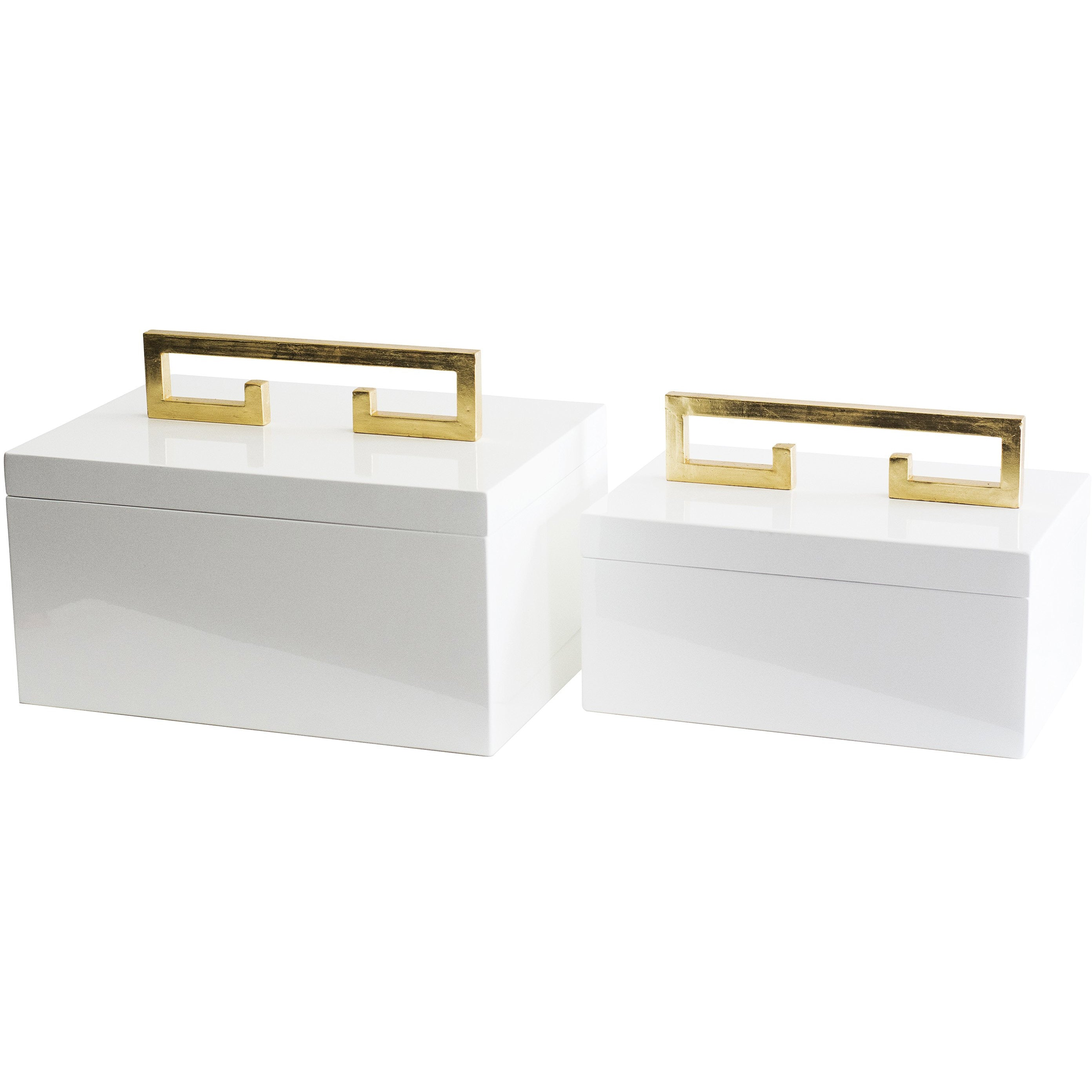 Avondale Boxes [Set of 2] White - Couture Lamps