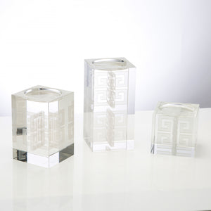 Hawthorne 3 Piece Crystal Tealight Holder Set - Couture Lamps