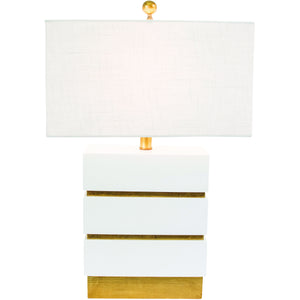 San Simeon Table Lamp, White - Couture Lamps