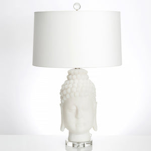 "Frosted Buddha 30"" Table Lamp - Couture Lamps"