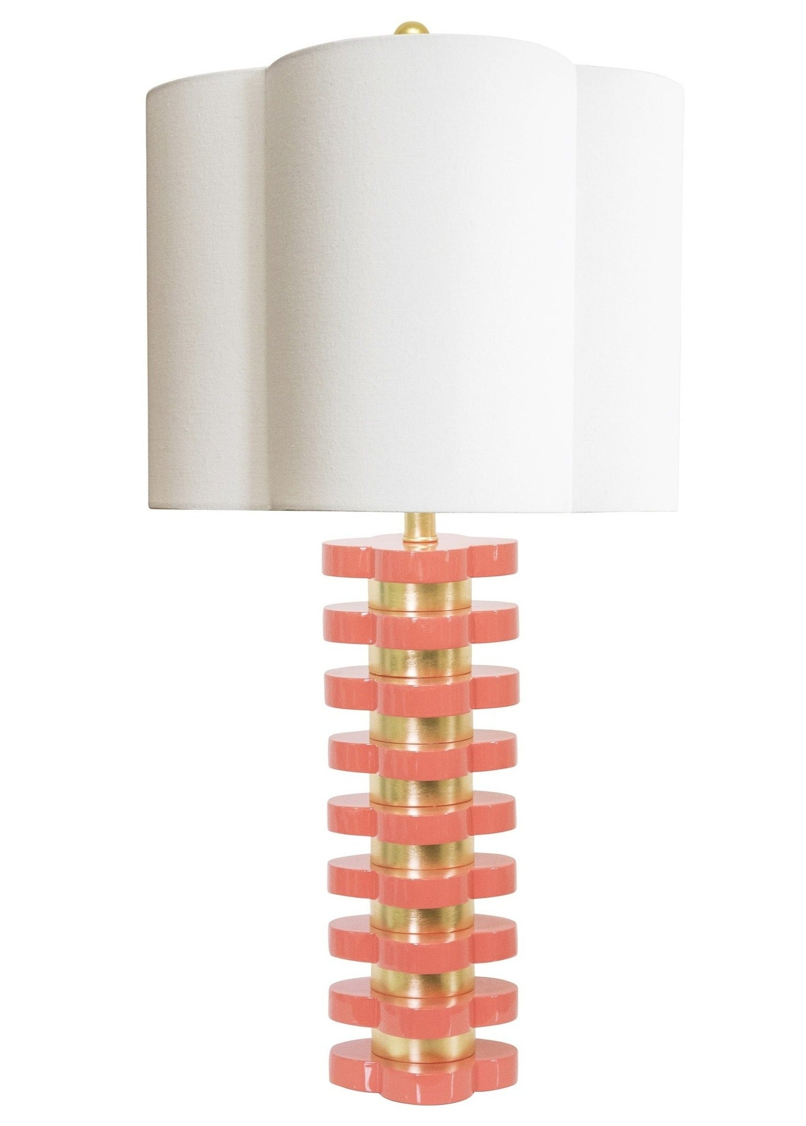 Quatrefoil Lamp Coral - Couture Lamps