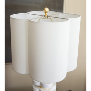 Quatrefoil Lamp White  ***PRE-ORDER***  (Available to ship Mid-June) - Couture Lamps