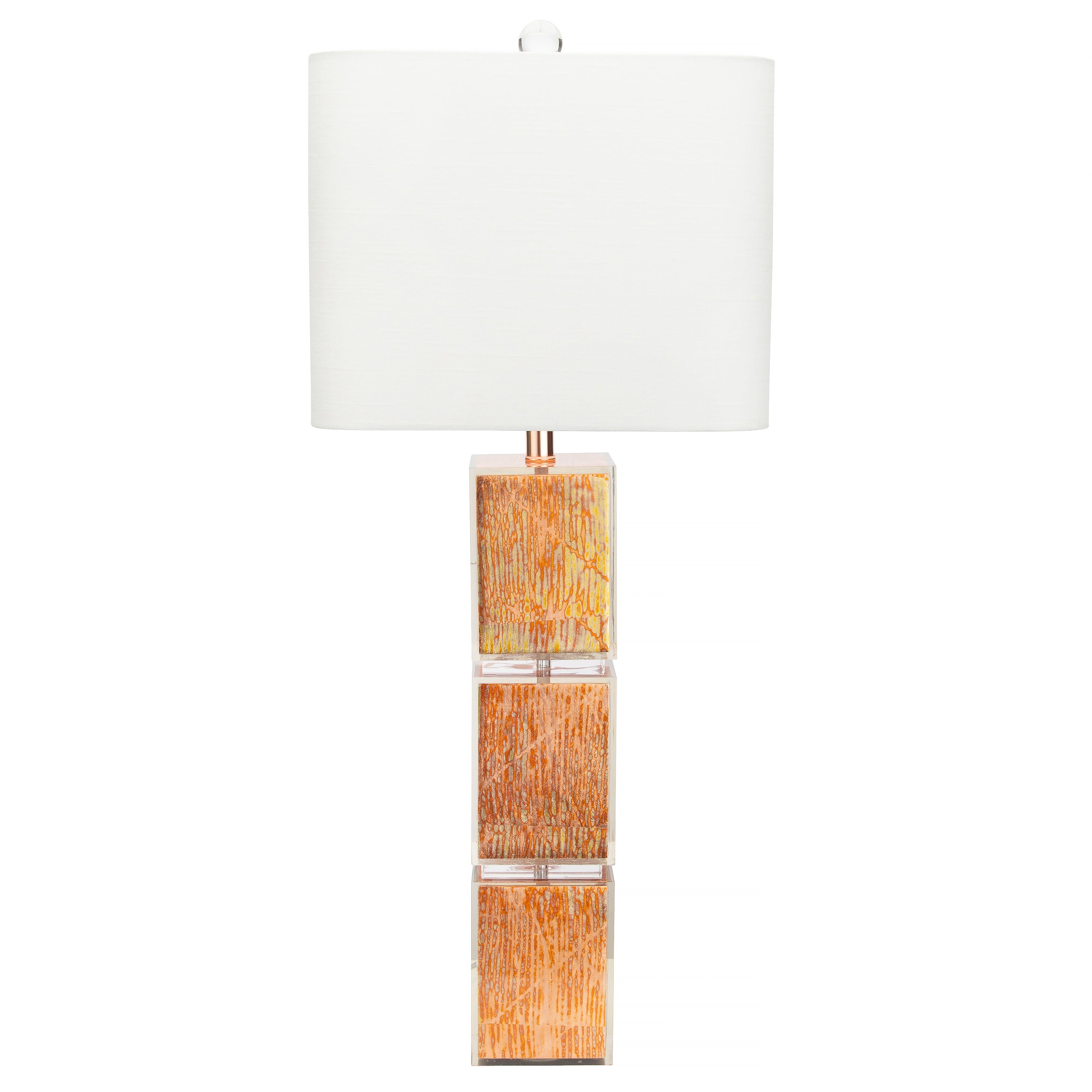 "Copper Leaf 36"" Table Lamp - Couture Lamps"