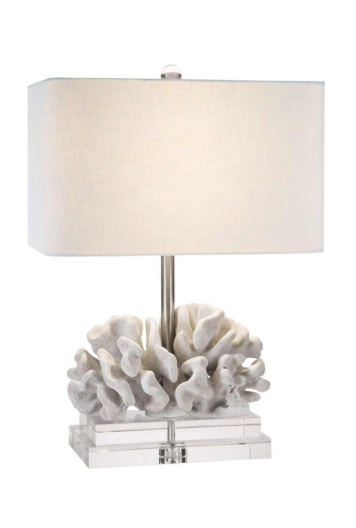 "Coastal Retreat Elkhorn Coral 22"" Table Lamp - Couture Lamps"