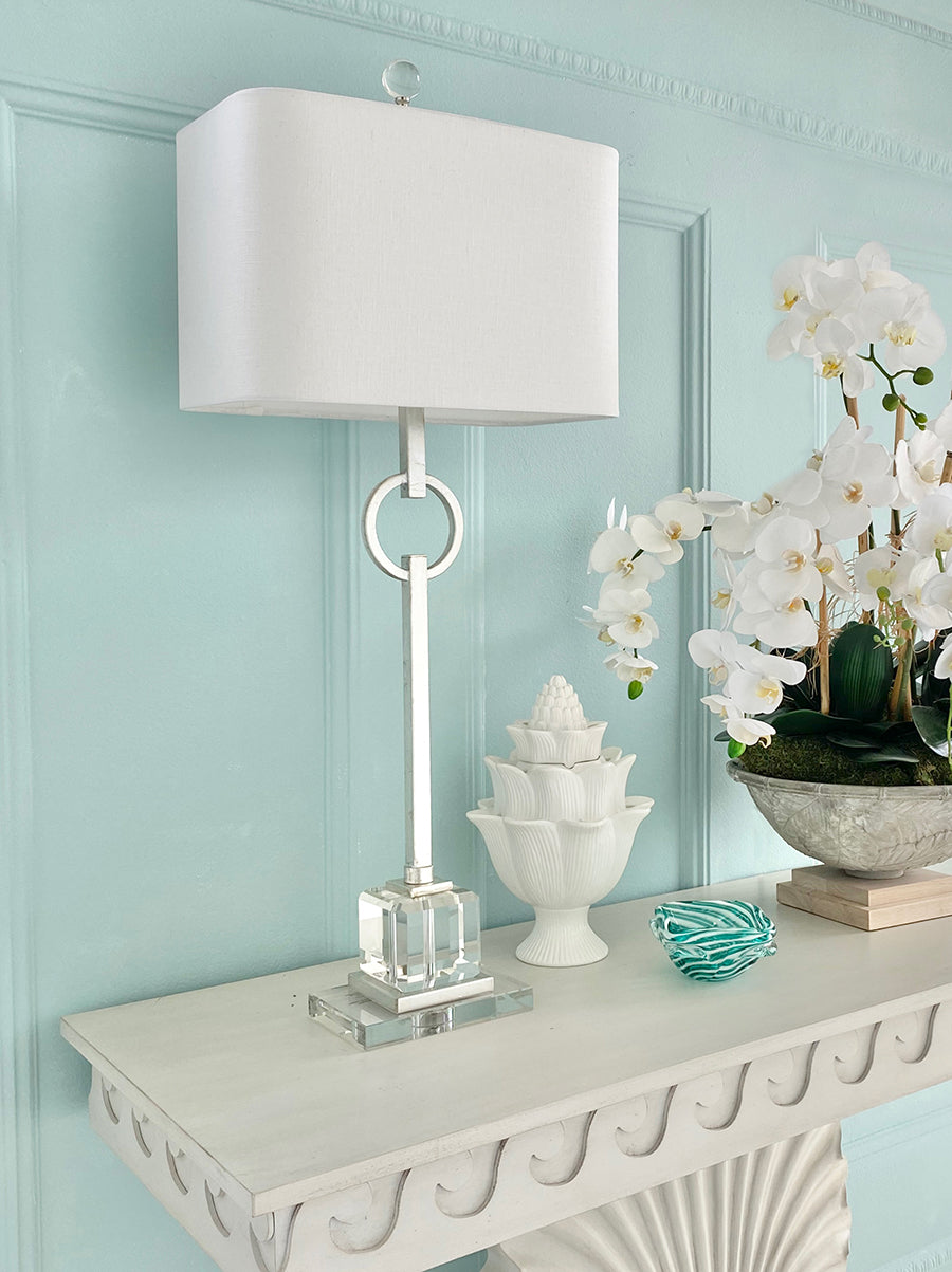 Elaina Silver Table Lamp - Couture Lamps
