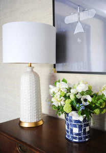 Melrose Table Lamp, White - Couture Lamps