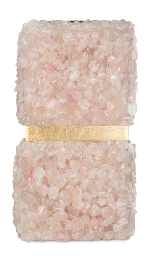 "Barrington Pink Quartz Candleholder - 10""H - Couture Lamps"
