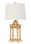 Bamboo Table Lamp, Gold - Couture Lamps