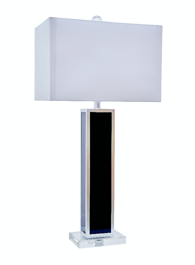 Blair Table Lamp, Indigo/Silver - Couture Lamps