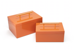 Blair Boxes - Orange [Set of 2] - Couture Lamps
