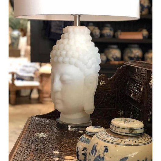Frosted Buddha Table Lamp - Couture Lamps