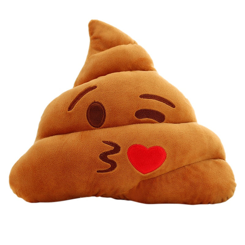Emoji Pillow Cushion Poop Shape Stuffed Toy Soft Plush - 25cm - Free Shipping Worldwide
