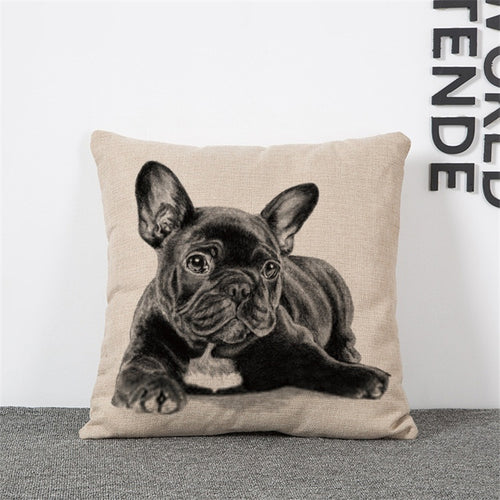 Pug Design Pillow Cushion Covers 45cm - Free Worldwide Shipping