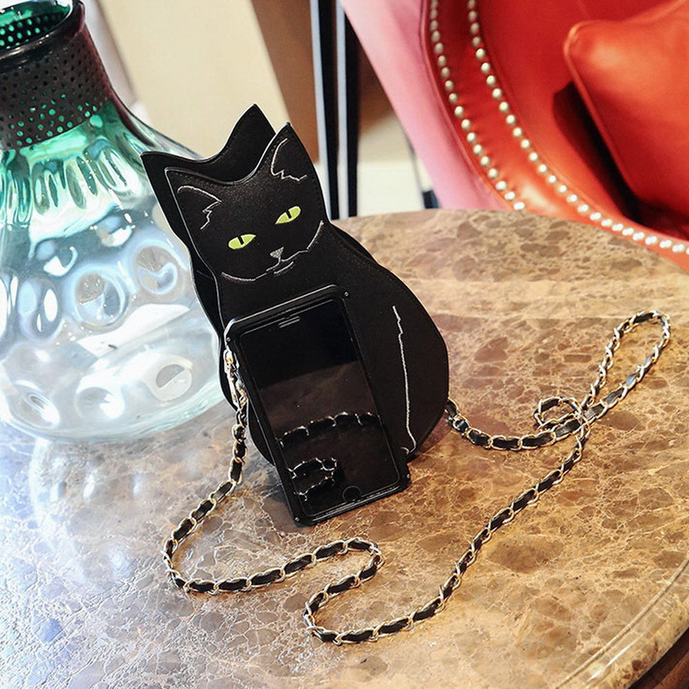 Cat Design Shoulder Chain Handbag - Free Shipping Worldwide